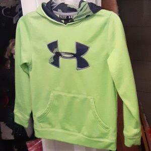Lime green Youth xs Under Armour hoodie